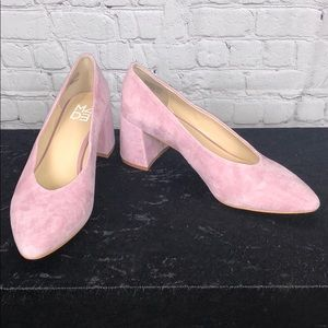 Shoes - Light Pink Pumps with chunky heel. Size 8.5